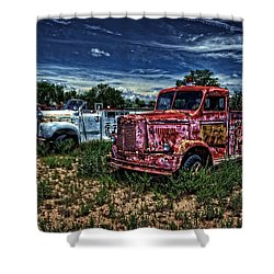 Shower Curtain featuring the photograph 3 In A Row by Ken Smith
