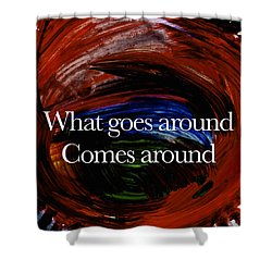 Shower Curtain featuring the painting Inspirational  Saying by Joan Reese