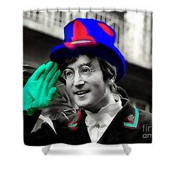 John Lennon Shower Curtain by Marvin Blaine