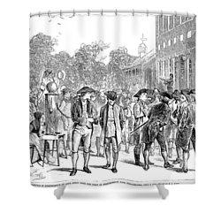John Nixon, 1776 Shower Curtain by Granger