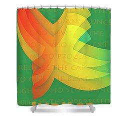 Jubilee Shower Curtain by Chuck Mountain