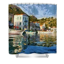 Kastellorizo Island Shower Curtain