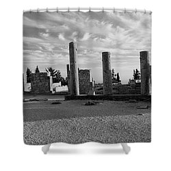 Kourion-temple Of Apollo Shower Curtain by Augusta Stylianou
