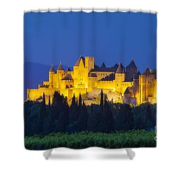 La Cite Carcassonne Shower Curtain by Brian Jannsen