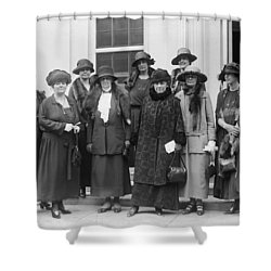 Shower Curtain featuring the photograph League Of Women Voters by Granger