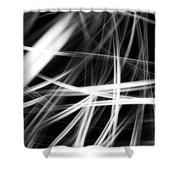 Lines Shower Curtain by Les Cunliffe