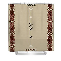 Love Written In Ogham Shower Curtain