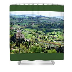 Madonna Di San Biagio Shower Curtain by Ellen Henneke