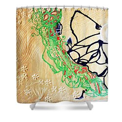Mama Dinka - South Sudan Shower Curtain by Gloria Ssali
