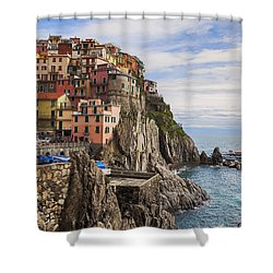 Manarola Shower Curtain by Joana Kruse