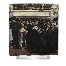 Masked Ball At The Opera Shower Curtain by Edouard Manet