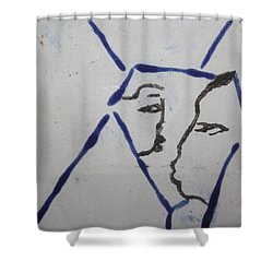 Michelle - Tile Shower Curtain by Gloria Ssali