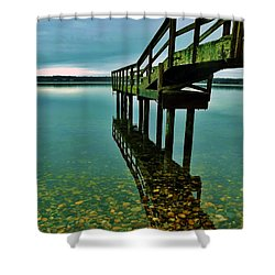 3 Mile Harbor Shower Curtain by John Wartman