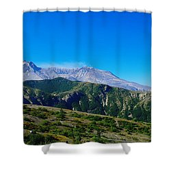 Mt St Helens Shower Curtain by Jeff Swan