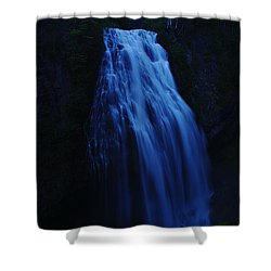 Narada Falls Shower Curtain by Jeff Swan