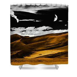 Night At The Great Sand Dunes Shower Curtain