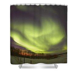 Northern Lights, Edmonton, Alberta Shower Curtain by Carson Ganci
