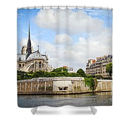 Notre Dame De Paris Shower Curtain by Elena Elisseeva