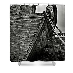 Old Abandoned Ship Shower Curtain by RicardMN Photography