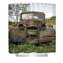 Old Junker Car Shower Curtain by Edward Fielding