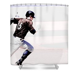 On The Go Shower Curtain by Karol Livote
