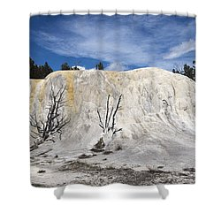 Orange Spring Mound Mammoth Hot Springs Yellowstone National Park Shower Curtain