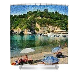 Paleokastritsa Beach Shower Curtain