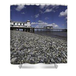Penarth Pier 2 Shower Curtain by Steve Purnell
