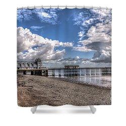 Penarth Pier 3 Shower Curtain by Steve Purnell