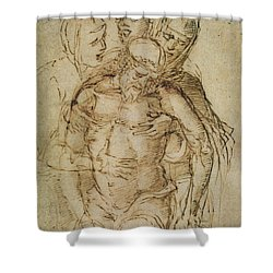 Pieta Shower Curtain by Italian School