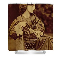 Portrait Of Jane Morris Shower Curtain by John Parsons