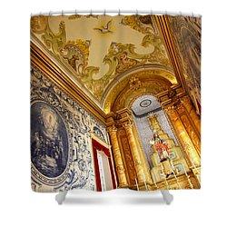 Portuguese Church Shower Curtain by Gaspar Avila