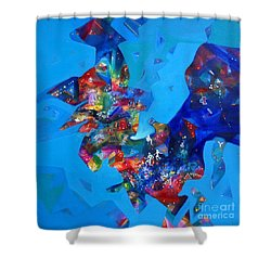 Power Sold Out Shower Curtain by Sanjay Punekar