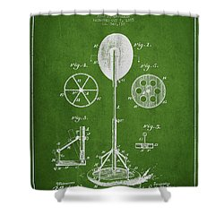 Punching Apparatus Patent Drawing From1895 Shower Curtain by Aged Pixel