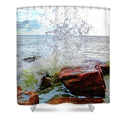 Quintana Jetty Shower Curtain by Savannah Gibbs