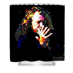 Robert Plant Shower Curtain by Angela Murray