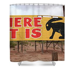 Route 66 - Jack Rabbit Trading Post Shower Curtain by Frank Romeo