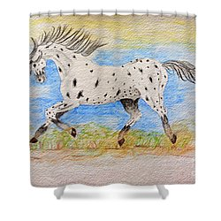Running Free Shower Curtain
