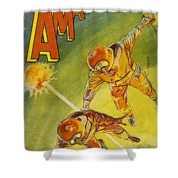 Sci-fi Magazine Cover 1931 Shower Curtain by Granger