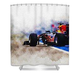 Sebastian Vettel Shower Curtain