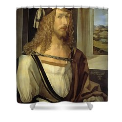 Self Portrait Shower Curtain by Albrecht Durer