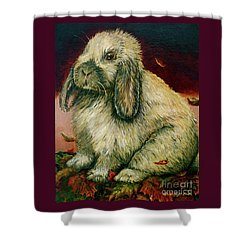 Some Bunny Is A Honey Shower Curtain by Linda Simon