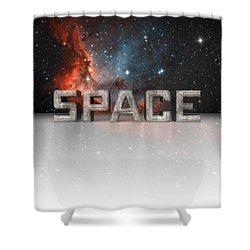 Space Shower Curtain by Phil Perkins