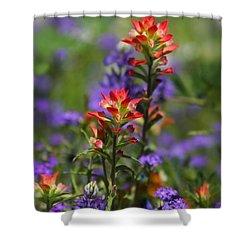 Spring Flowers  Shower Curtain by Saija  Lehtonen