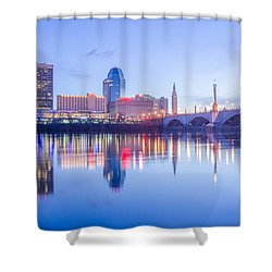 Springfield Massachusetts City Skyline Early Morning Shower Curtain