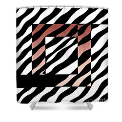 Shower Curtain featuring the drawing 3 Squares With Ripples by Joseph J Stevens