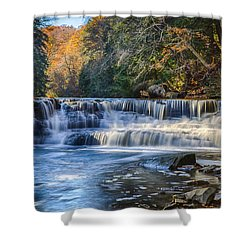 Squaw Rock - Chagrin River Falls Shower Curtain