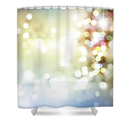 Starry Background Shower Curtain by Les Cunliffe