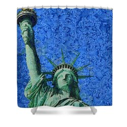 Statue Of Liberty Shower Curtain by Dan Sproul