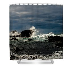 Stormy Seas And Skies  Shower Curtain